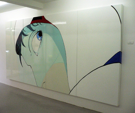 The large, four panel painting that caught my attention