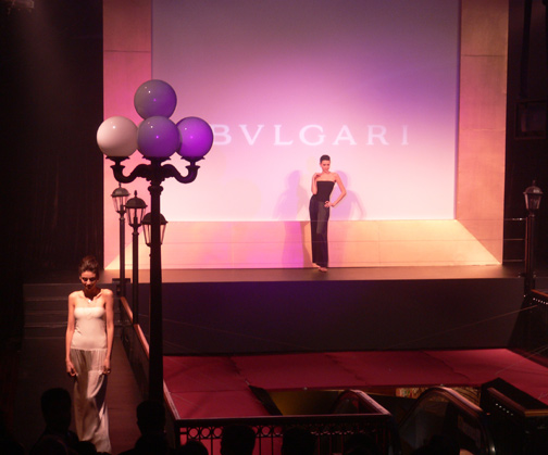 Start of the Bvlgari show at Western Market