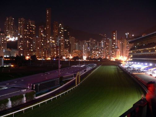 View from the club of the racecourse