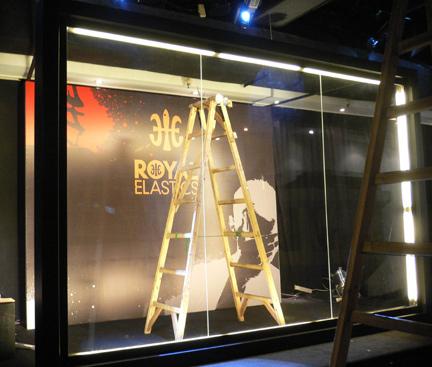 The plexiglass panels before painting...