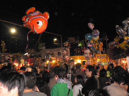 Flying fish amidst the throngs