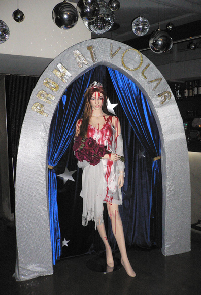 A scary prom queen!
