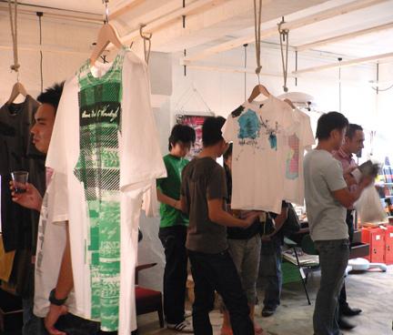 More shirts on display