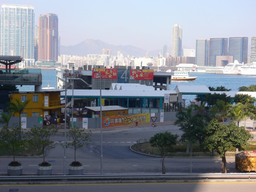 Pier 4, view with West Kowloon in the distance