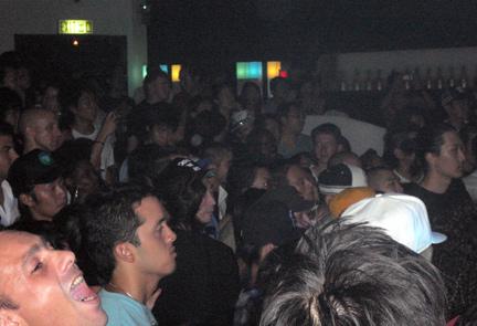 The crowd rockin to QBert's beat!