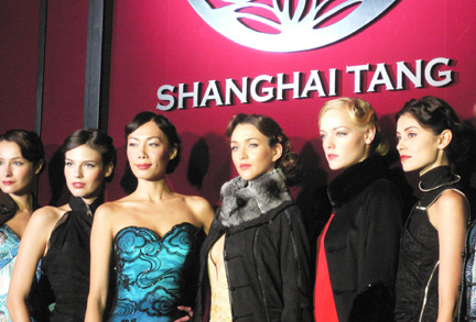 Models on stage at the finale