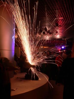 Now that's entertainment! Sparks fly!