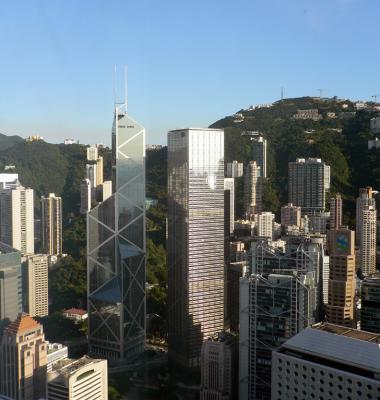 Bank of China and Cheung Kong building