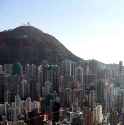 Looking out towards Victoria Peak