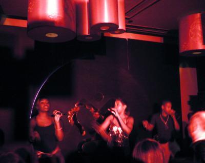 R&B group performing at Dragon-I