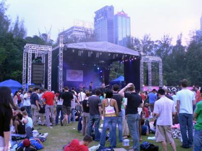 View of main stage