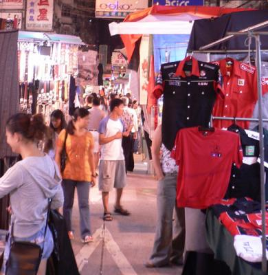 Shoppers at the night market