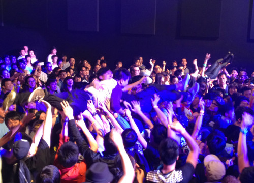 stage diving hong kong show