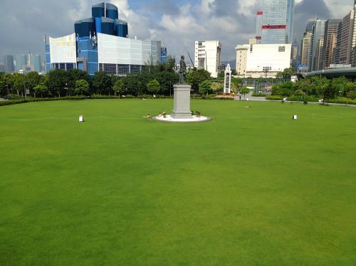 sun yat sen memorial park lawn grass hong kong hk