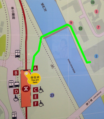 Follow the green line to get to the museum