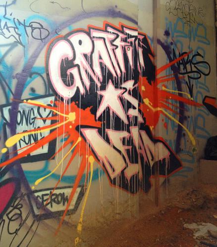 I guess graffiti ISN'T dead!