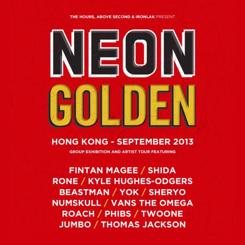 neon golden art exhibit the hours australia beastman rone hong kong