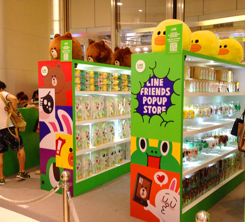 cony brown line stickers pop up store hk