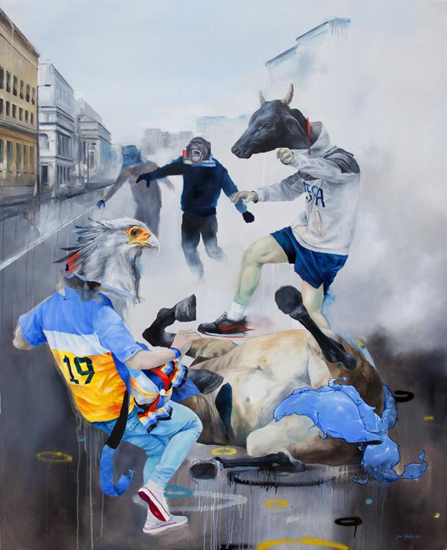 joram roukes painting animal art above second hong kong hk