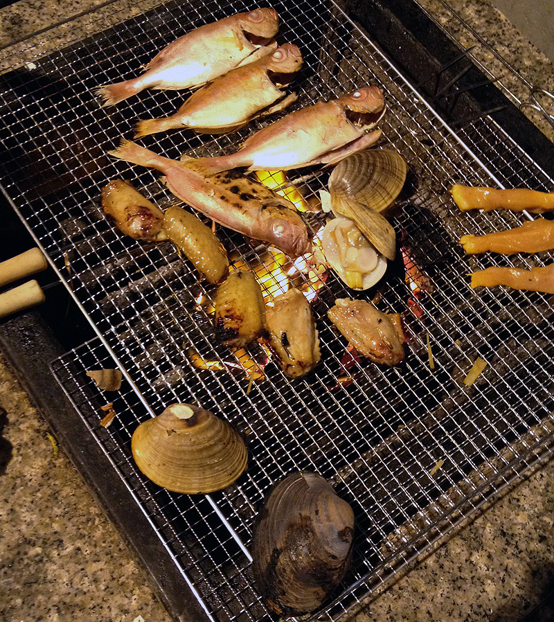 bbq seafood cook on grill fish hong kong