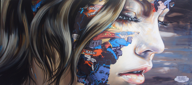 artist sandra chevrier hong kong hk crash bam pow comic book